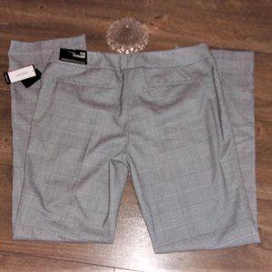 $79 NEW nine west size 10 pants trousers black wht